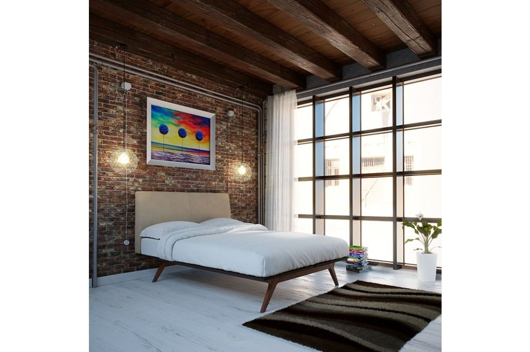 Tracy King Wood Bed in Cappuccino Latte Beds