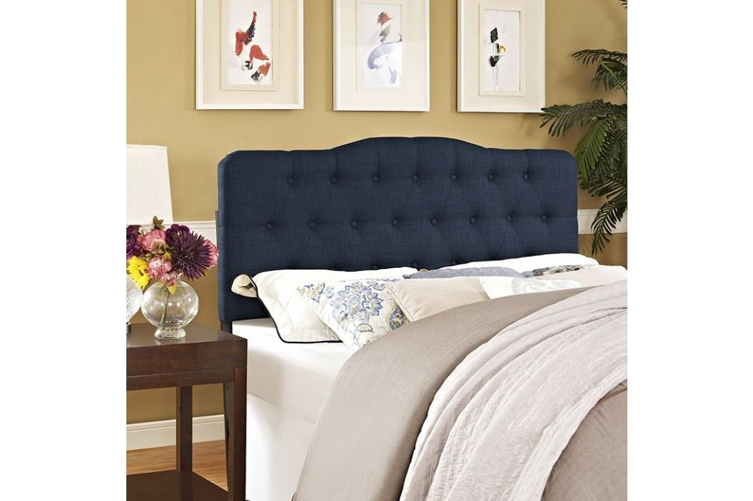 Annabel Full Fabric Headboard in Navy Beds