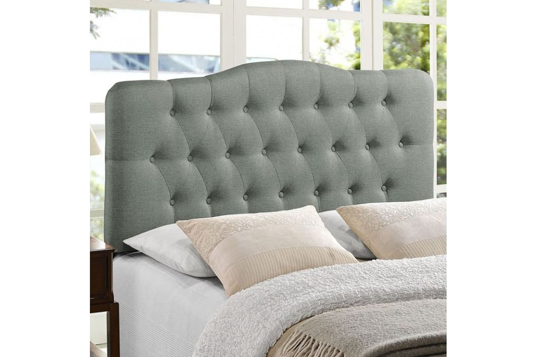 Annabel King Fabric Headboard in Gray Beds