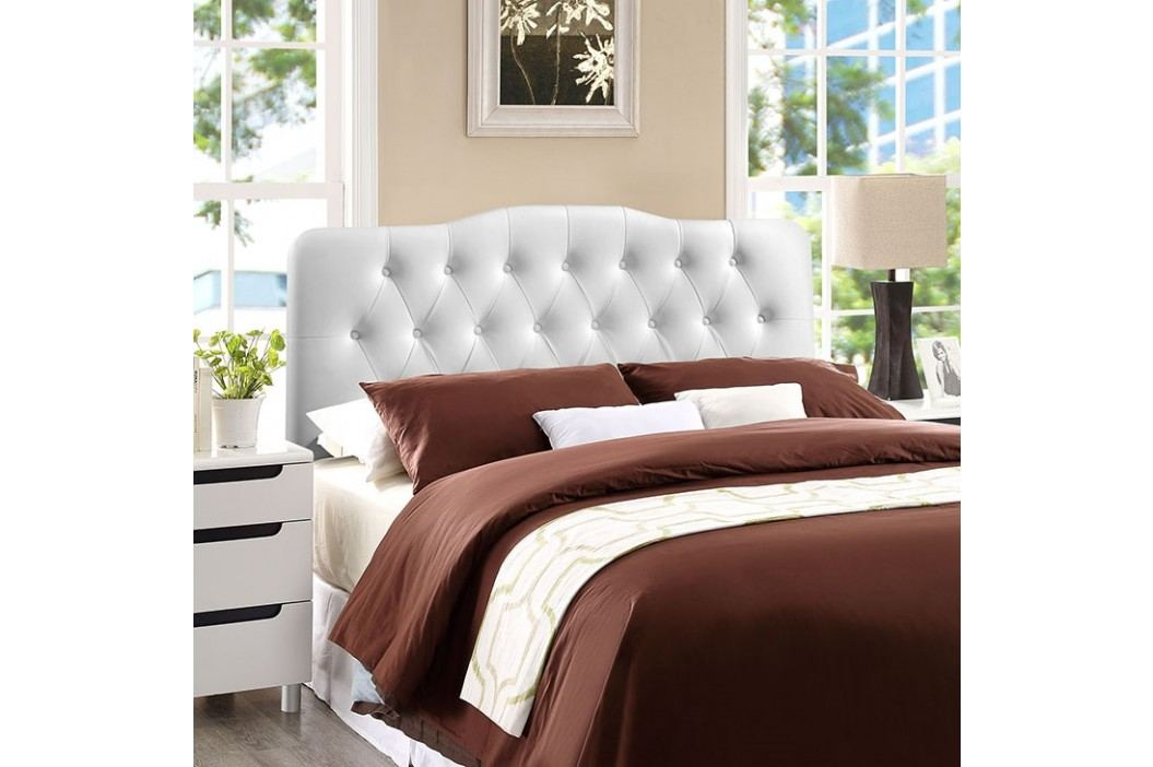 Annabel King Vinyl Headboard in White Beds