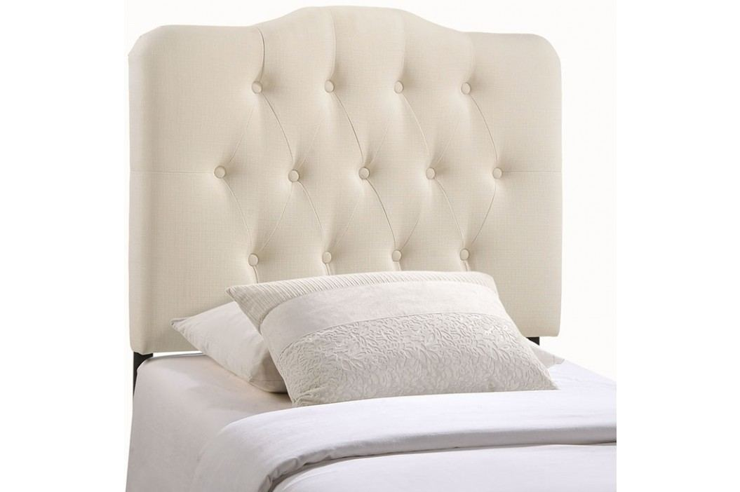 Annabel Twin Fabric Headboard in Ivory Beds