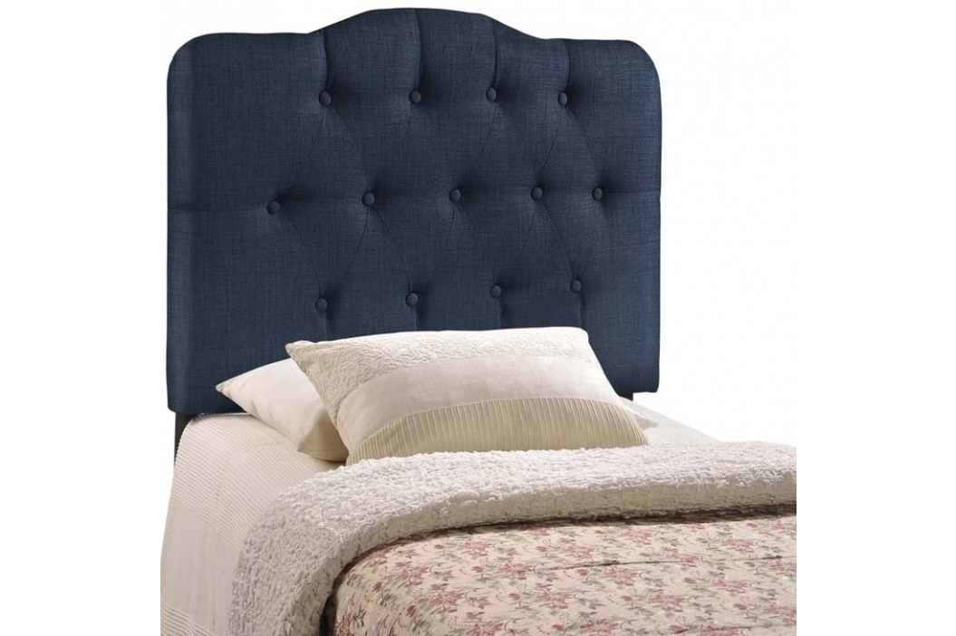 Annabel Twin Fabric Headboard in Navy Beds