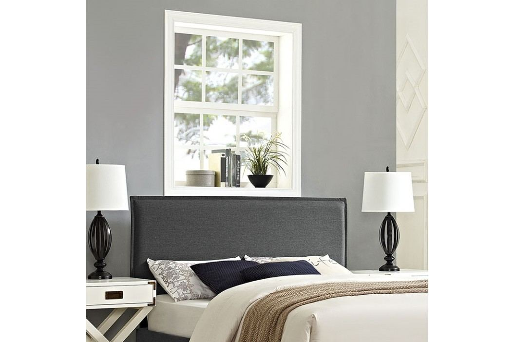 Camille Full Fabric Headboard in Gray Beds