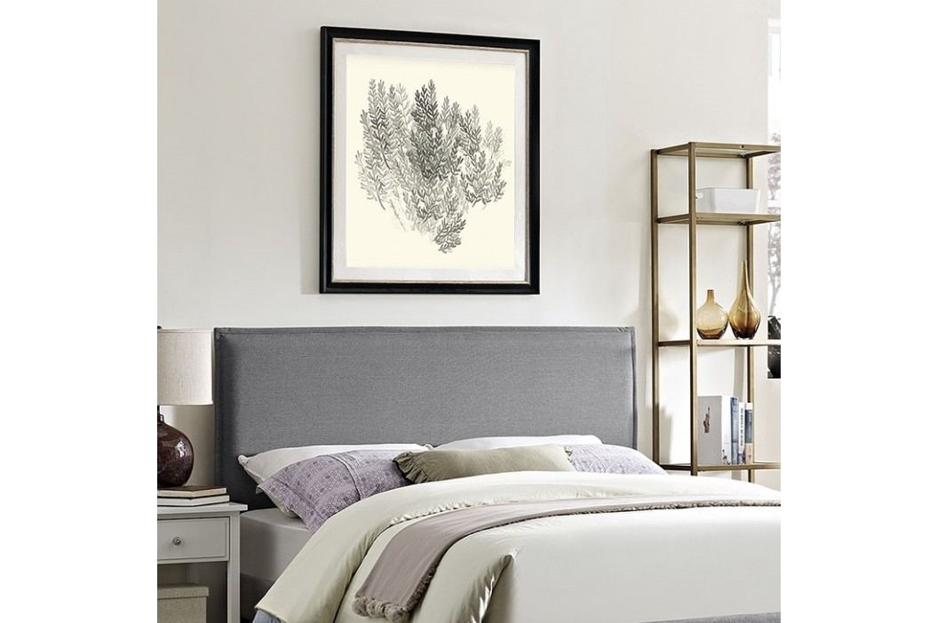 Camille King Fabric Headboard in Light Gray Beds