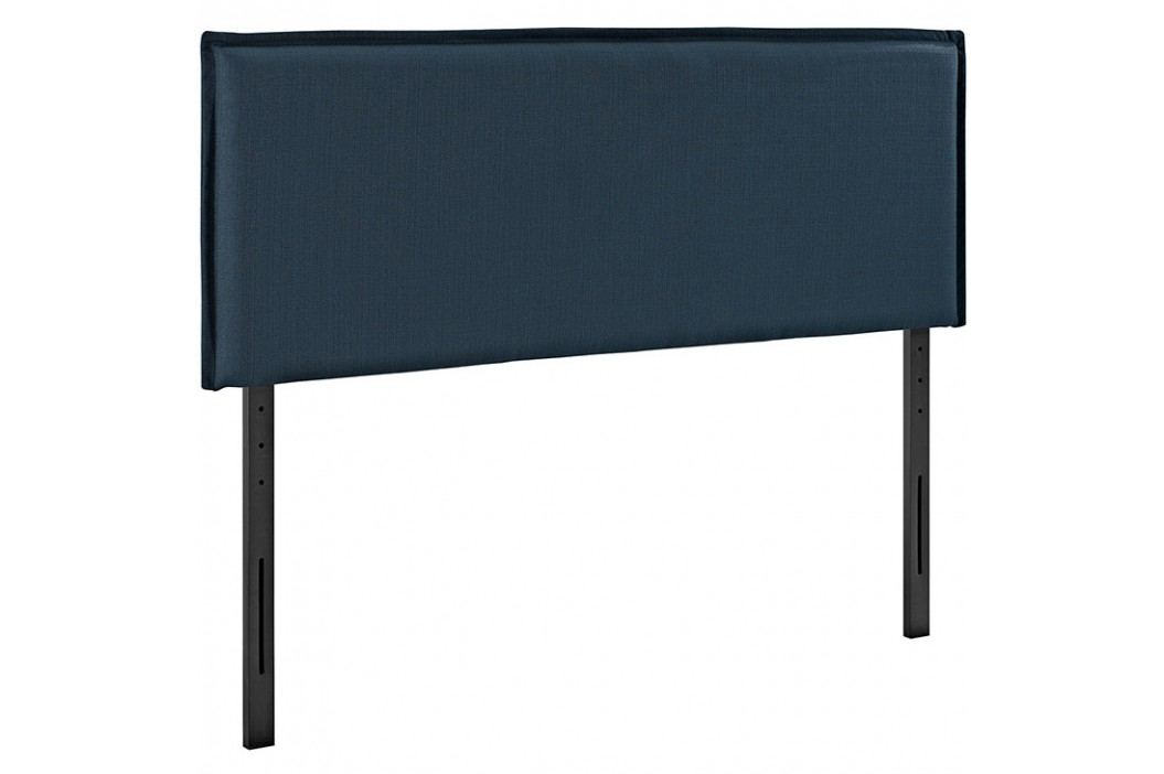 Camille Queen Fabric Headboard in Azure Beds