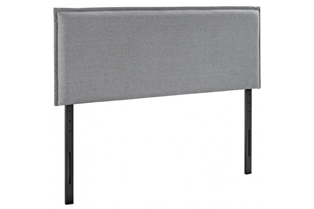 Camille Queen Fabric Headboard in Light Gray Beds