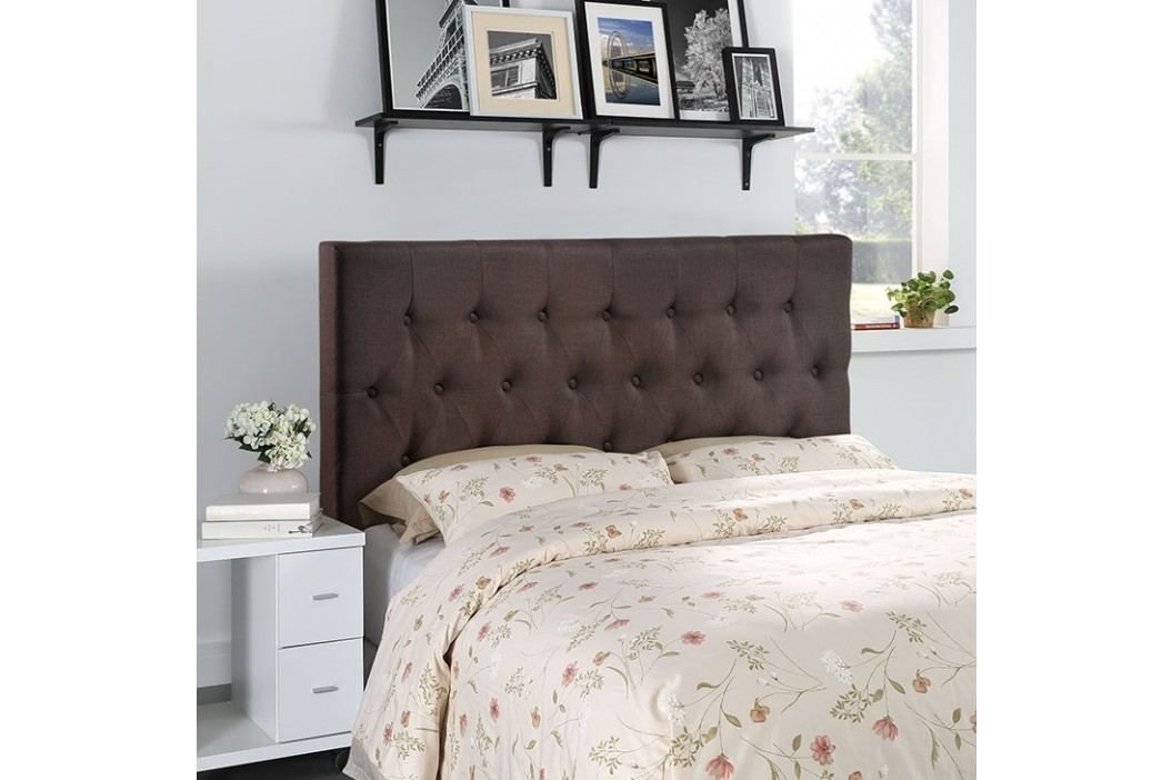 Clique Queen Headboard in Dark Brown Beds