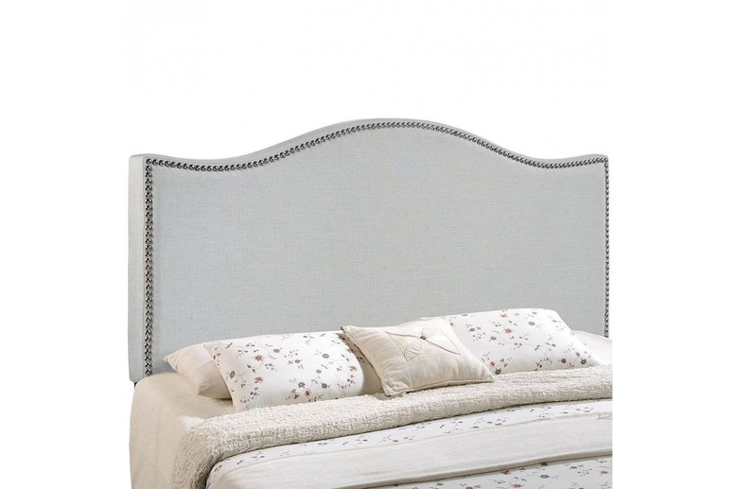 Curl Full Nailhead Upholstered Headboard in Sky Gray Beds