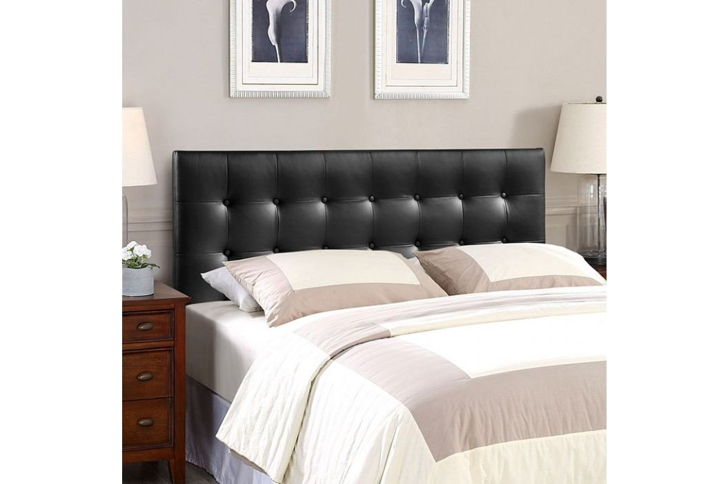 Emily King Vinyl Headboard in Black Beds