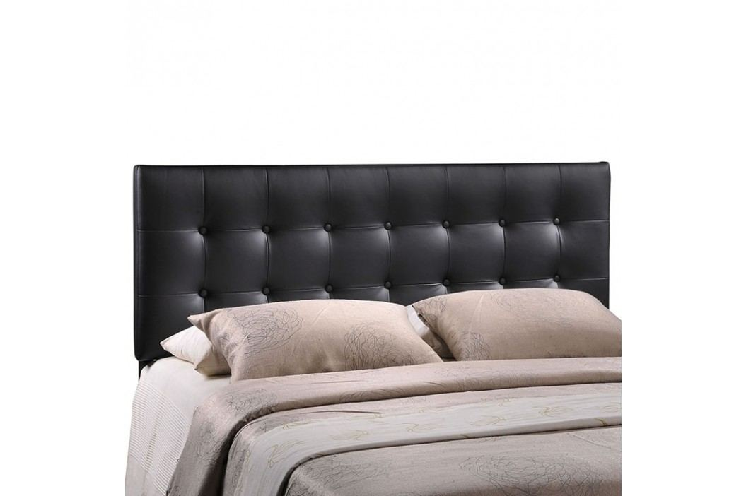 Emily Queen Vinyl Headboard in Black Beds