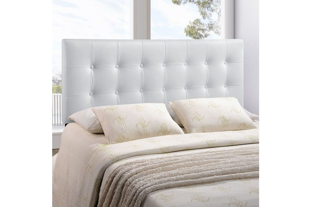 Emily Queen Vinyl Headboard in White Beds