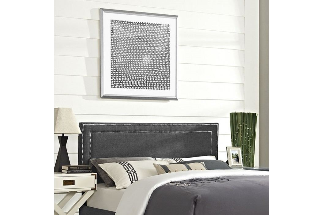Jessamine King Fabric Headboard in Gray Beds