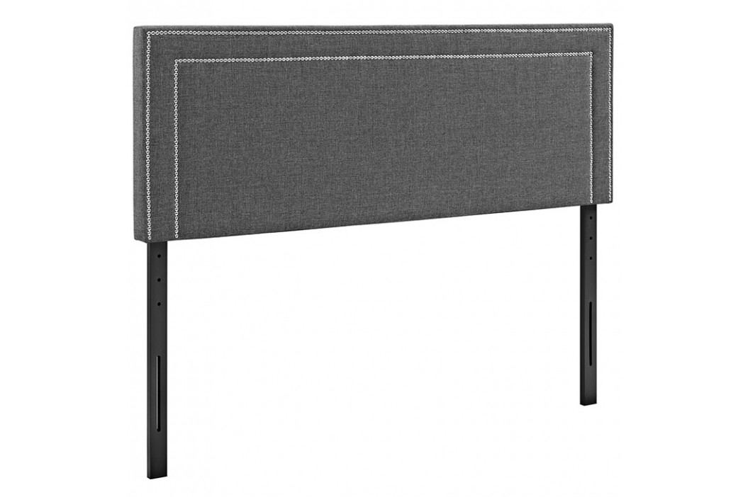 Jessamine Queen Fabric Headboard in Gray Beds