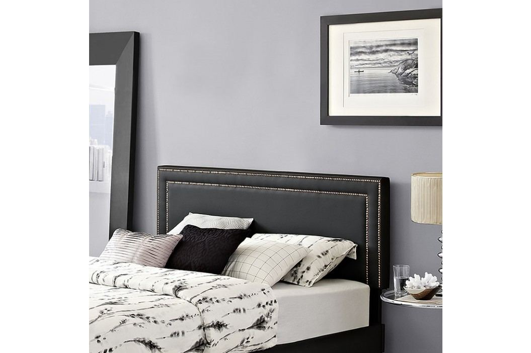 Jessamine Queen Vinyl Headboard in Black Beds