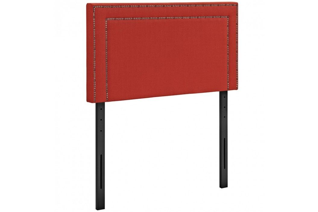 Jessamine Twin Fabric Headboard in Atomic Red Beds