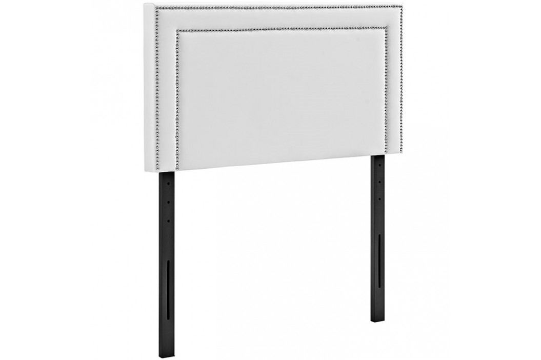 Jessamine Twin Vinyl Headboard in White Beds