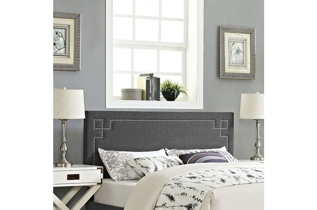 Josie Full Fabric Headboard in Gray