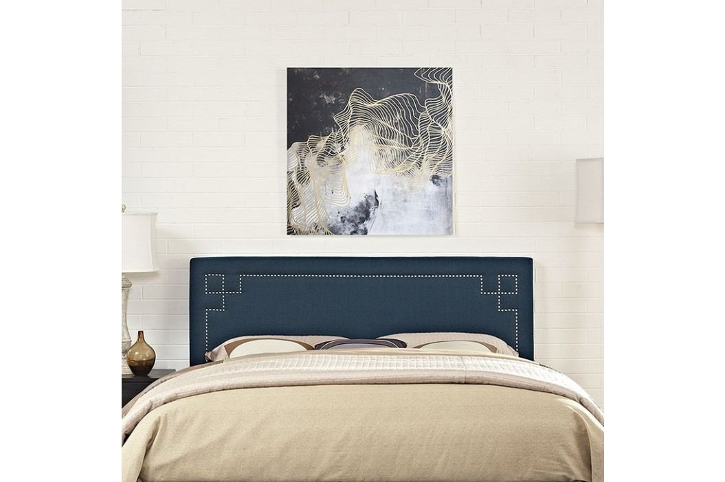 Josie King Fabric Headboard in Azure Beds