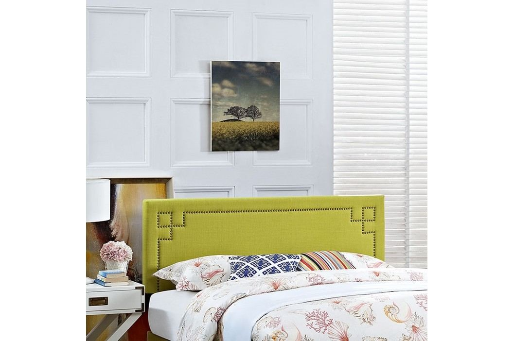 Josie King Fabric Headboard in Wheatgrass Beds