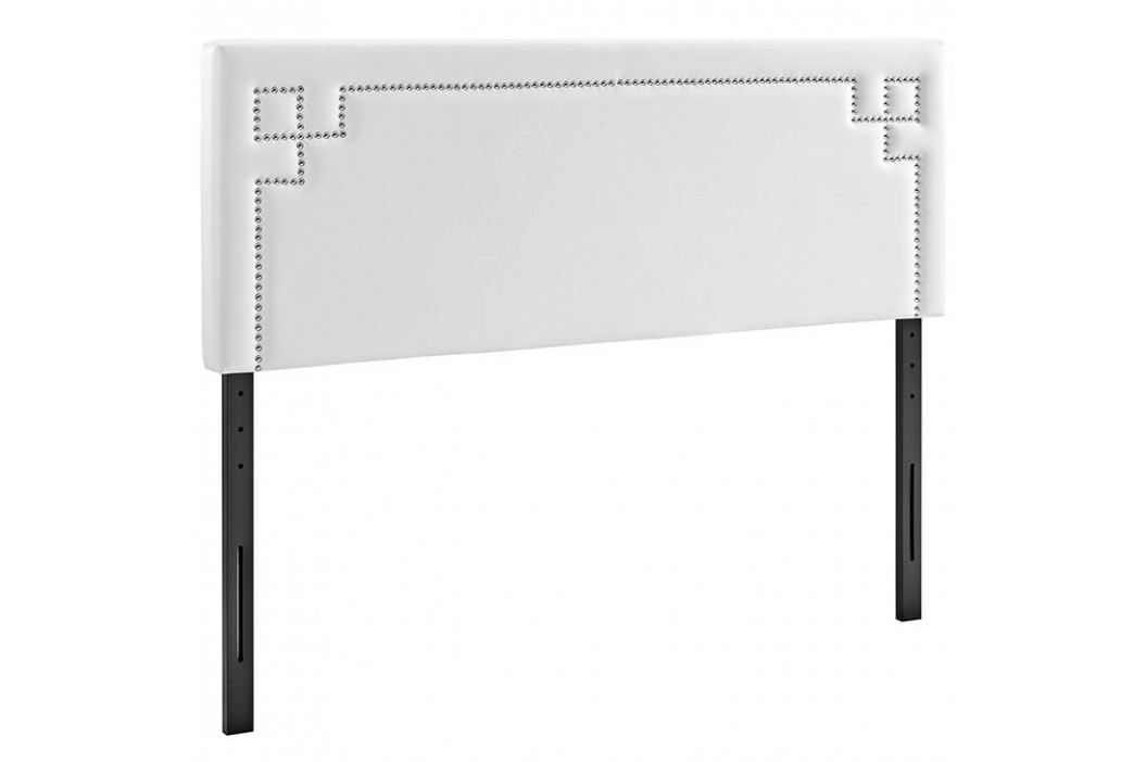 Josie King Vinyl Headboard in White Beds