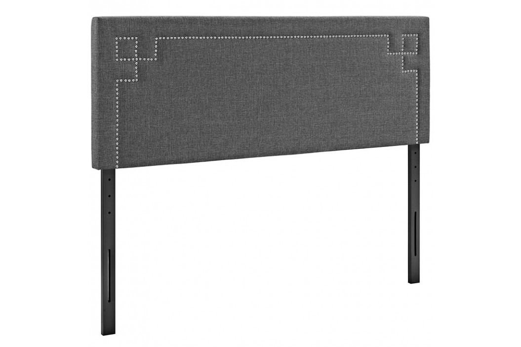 Josie Queen Fabric Headboard in Gray Beds