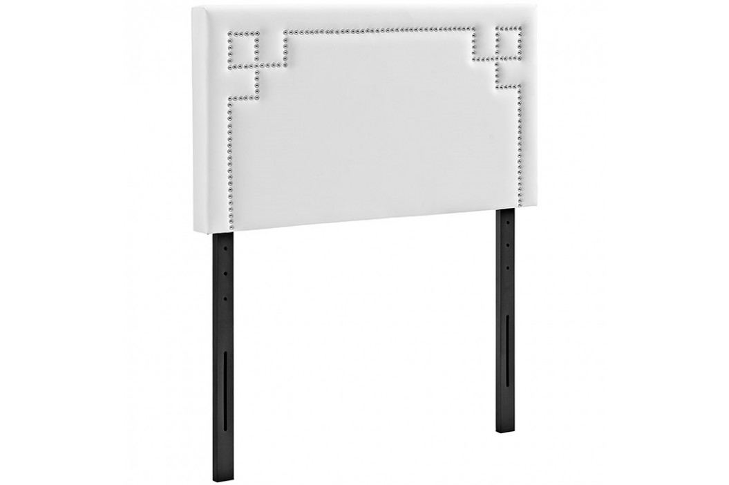 Josie Twin Vinyl Headboard in White Beds