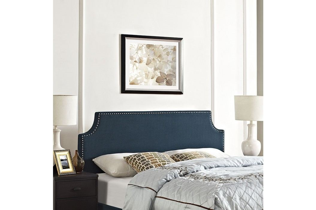 Laura Full Fabric Headboard in Azure Beds