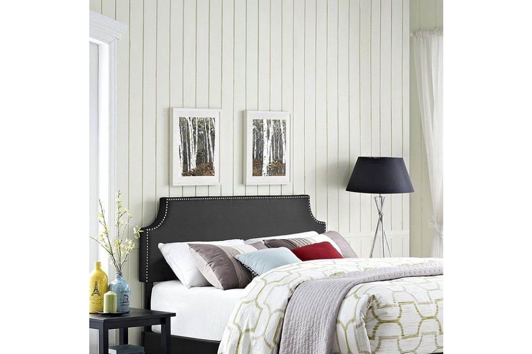 Laura Full Vinyl Headboard in Black Beds