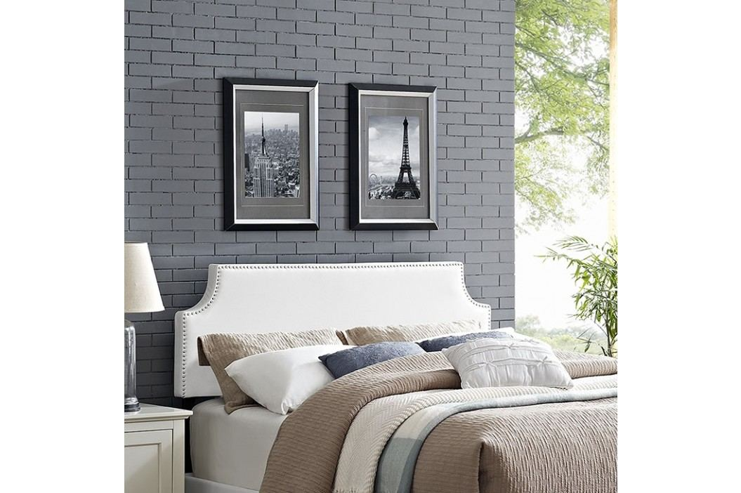Laura Full Vinyl Headboard in White Beds