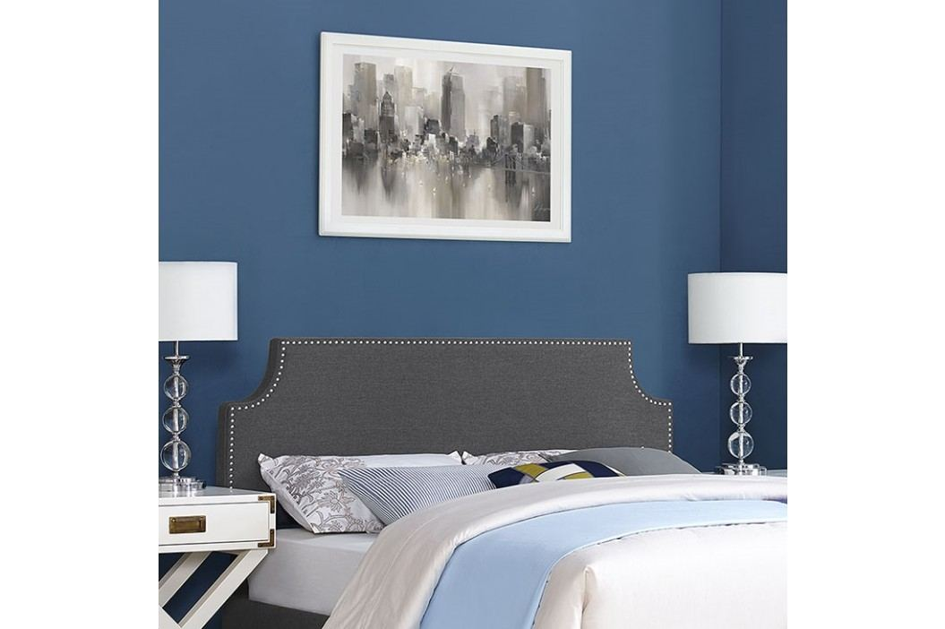 Laura King Fabric Headboard in Gray Beds