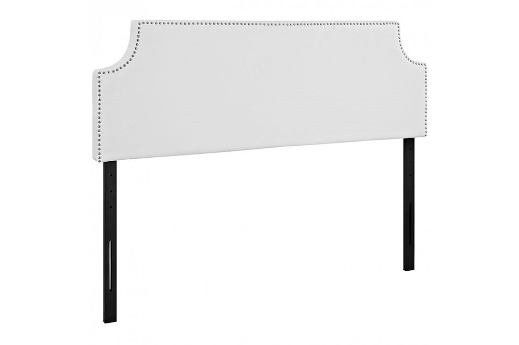 Laura Queen Vinyl Headboard in White Beds