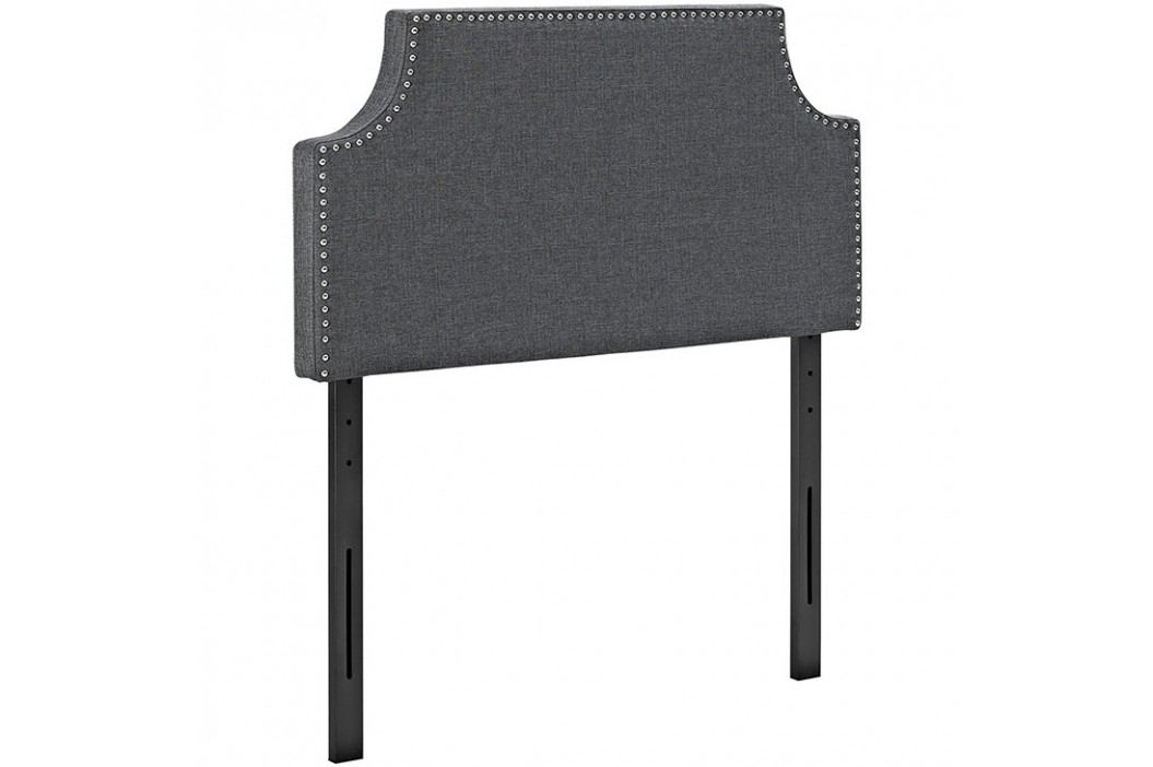 Laura Twin Fabric Headboard in Gray Beds