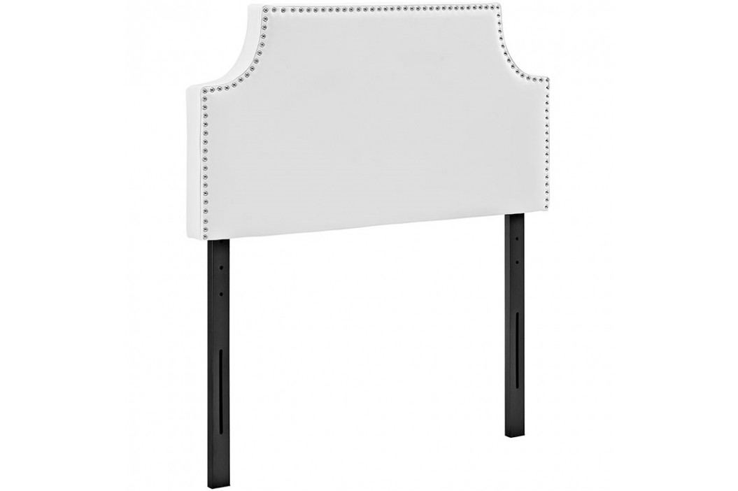 Laura Twin Vinyl Headboard in White Beds