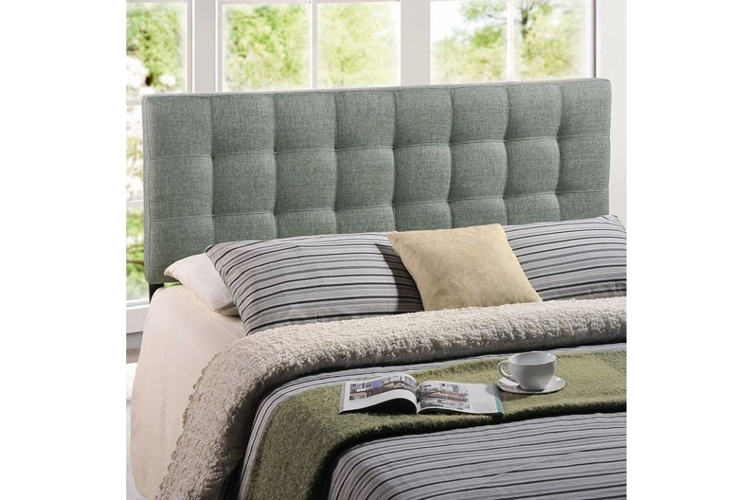 Lily Full Fabric Headboard in Gray Beds