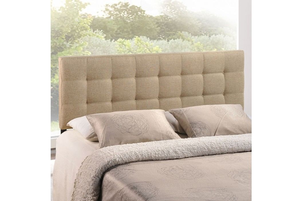 Lily King Fabric Headboard in Beige Beds