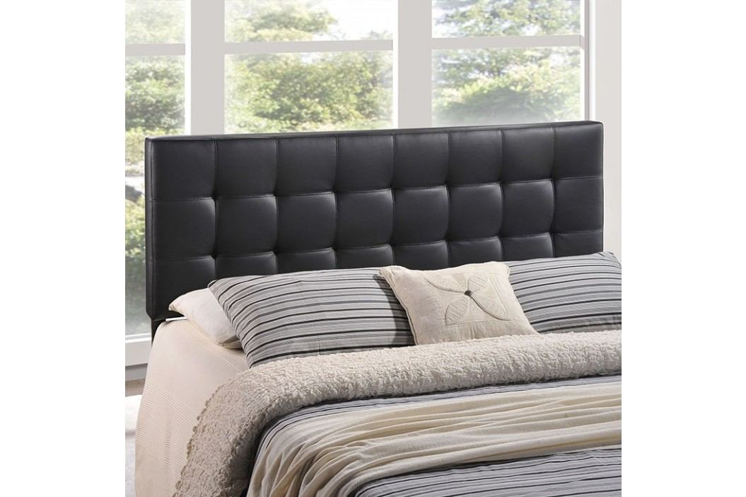 Lily King Vinyl Headboard in Black Beds