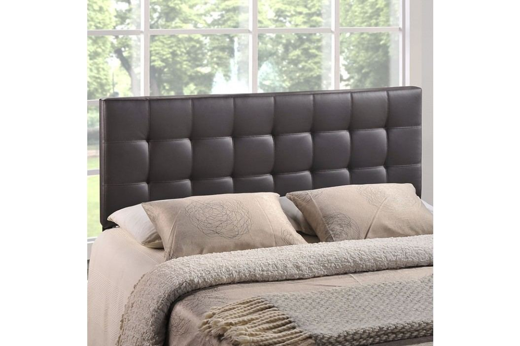 Lily King Vinyl Headboard in Brown Beds