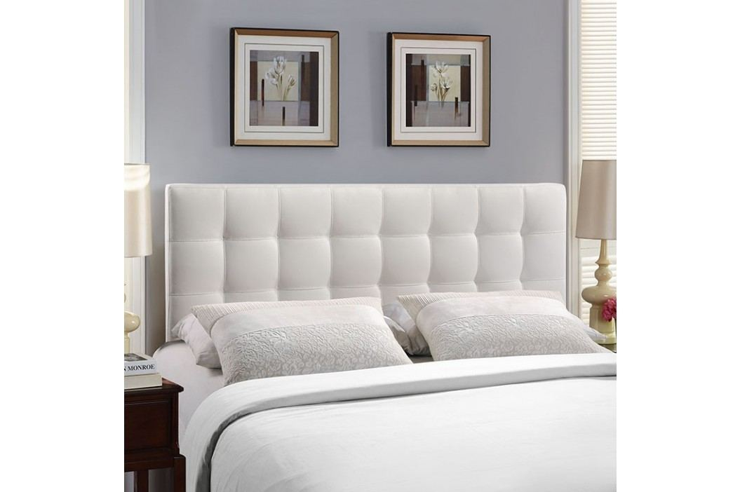 Lily King Vinyl Headboard in White Beds