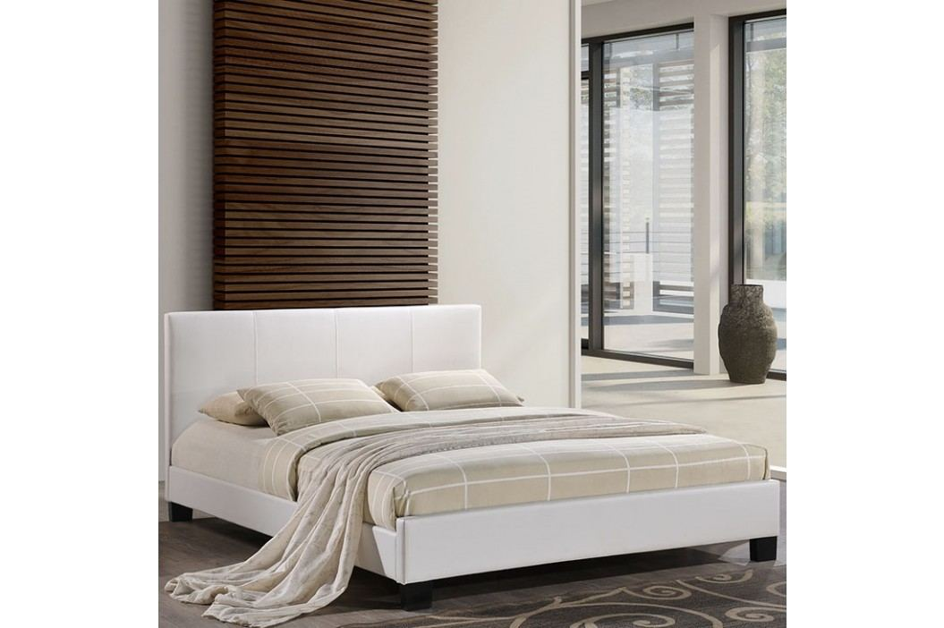 Alex Queen Vinyl Bed in White Beds