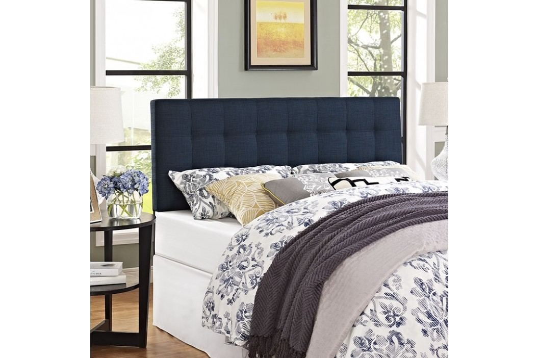 Lily Queen Fabric Headboard in Navy Beds