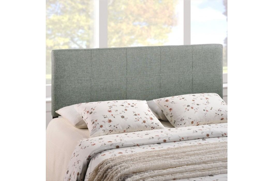 Oliver Full Fabric Headboard in Gray Beds