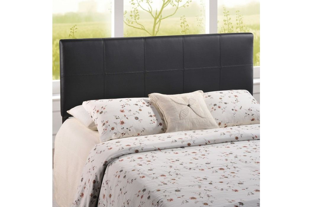 Oliver Queen Vinyl Headboard in Black Beds