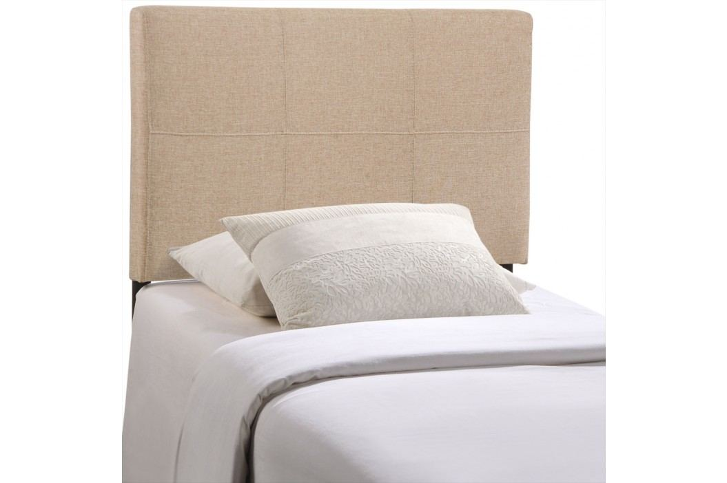 Oliver Twin Fabric Headboard in Beige Beds