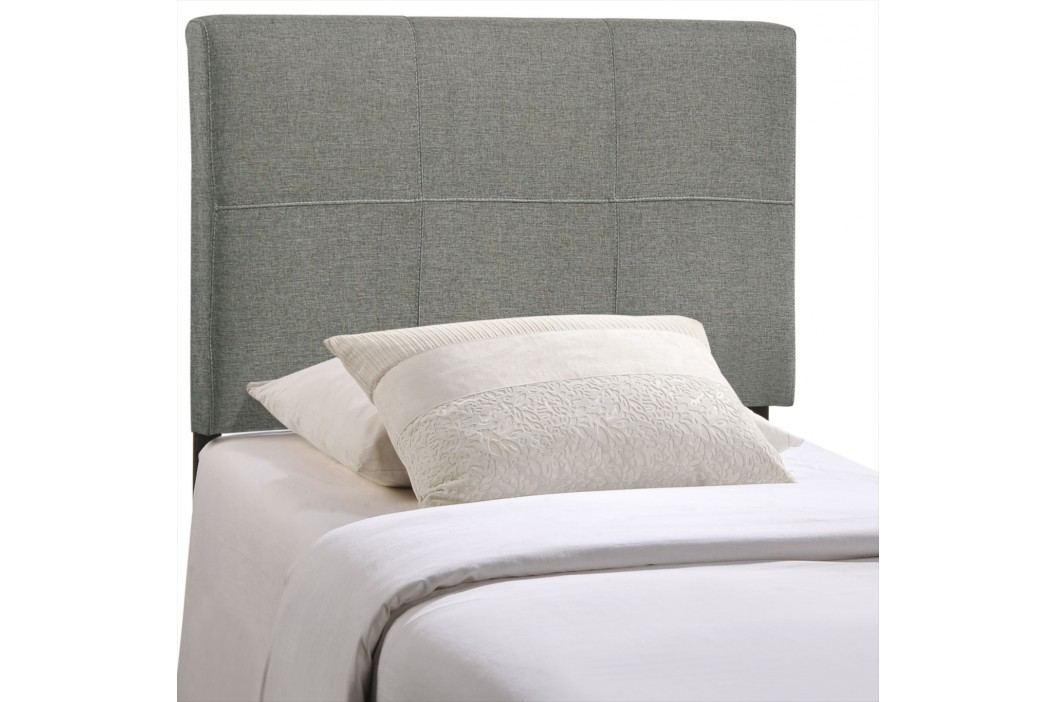 Oliver Twin Fabric Headboard in Gray Beds