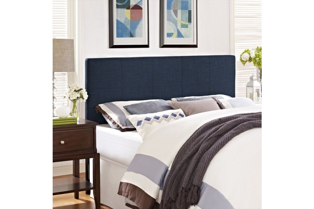 Oliver Twin Fabric Headboard in Navy Beds