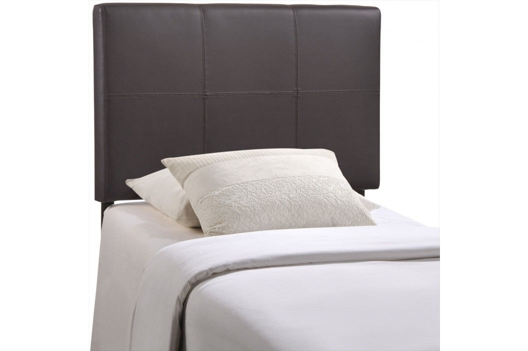 Oliver Twin Vinyl Headboard in Brown Beds