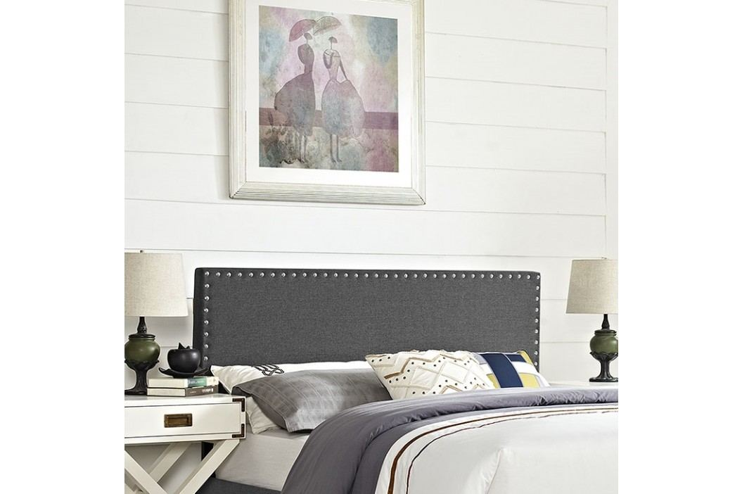 Phoebe Full Fabric Headboard in Gray Beds