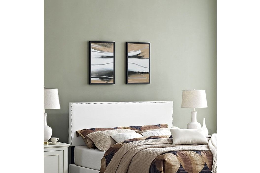 Phoebe Full Vinyl Headboard in White Beds