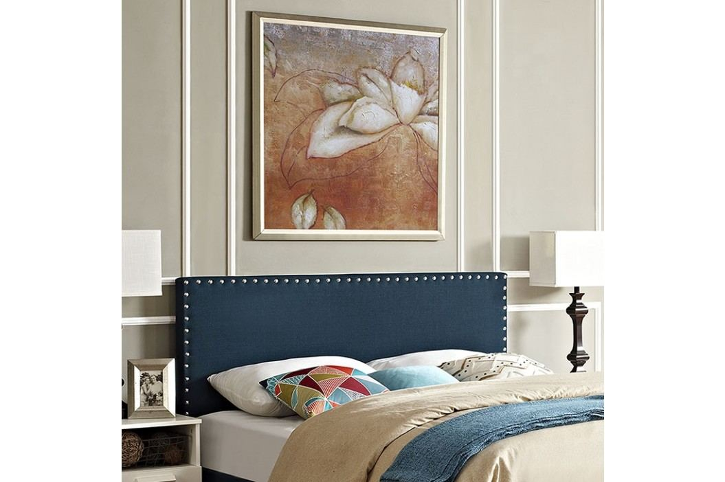 Phoebe King Fabric Headboard in Azure Beds