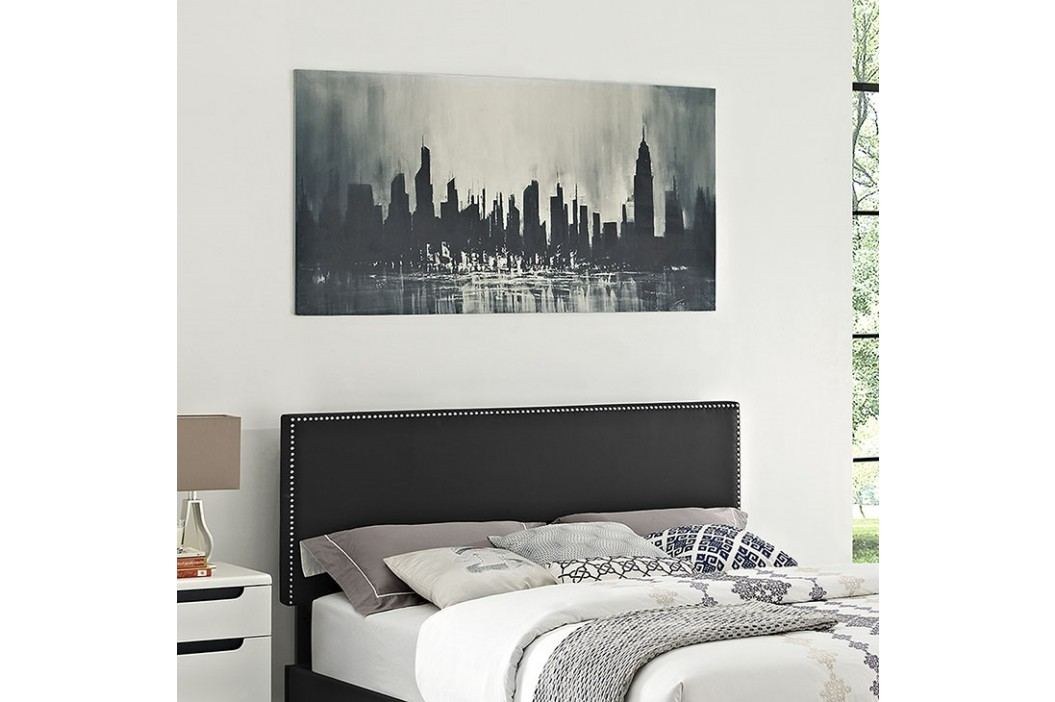Phoebe King Vinyl Headboard in Black Beds